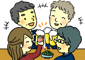 家飲み家族の画像