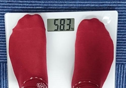 ファスタナを飲む前の体重