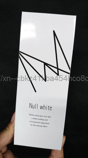 NULL WHITE(ヌルホワイト)のパッケージ