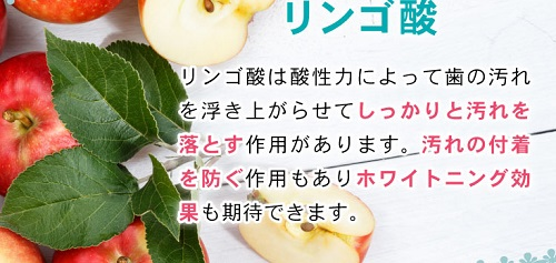 ZEROクリスタルの成分リンゴ酸